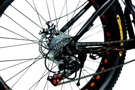 jaguar frame ontrack fat tyre bike cycle bicycle black 004