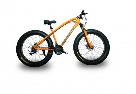 jaguar frame ontrack fat tyre bike cycle bicycle orange 001