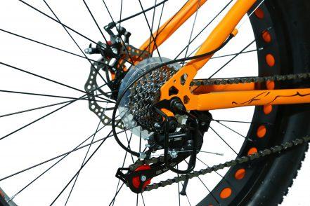 jaguar frame ontrack fat tyre bike cycle bicycle orange 002