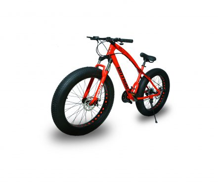 jaguar frame ontrack fat tyre bike cycle bicycle red 001