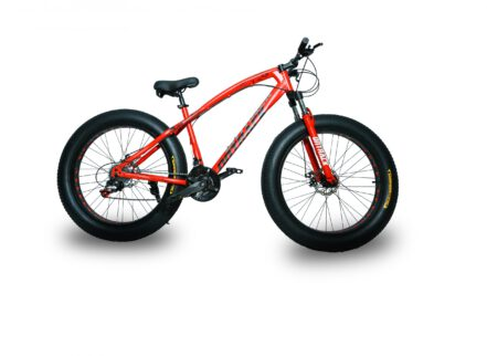 jaguar frame ontrack fat tyre bike cycle bicycle red 002