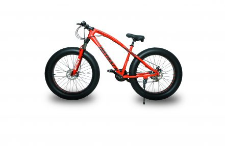 jaguar frame ontrack fat tyre bike cycle bicycle red 003
