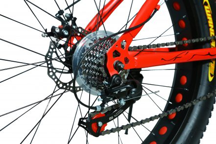 jaguar frame ontrack fat tyre bike cycle bicycle red 004