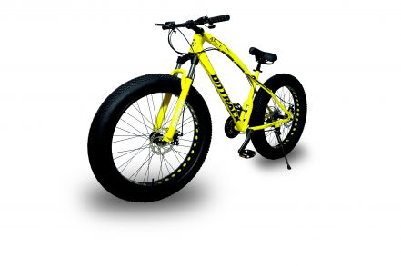 jaguar frame ontrack fat tyre bike cycle bicycle yellow 001