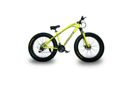 jaguar frame ontrack fat tyre bike cycle bicycle yellow 003