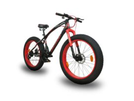 Black Red CHALLENGER Jaguar Fat Bike 26×4