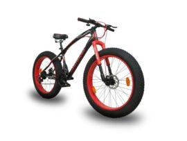 Black Red CHALLENGER Jaguar Fat Bike 26×4