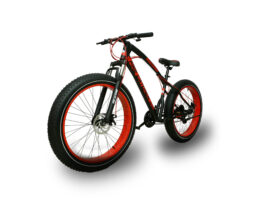Black Red Jaguar Fat Bike Cycle with Big Tyres 26×4